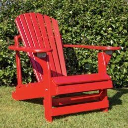 adirondack chair verstelbaar rood
