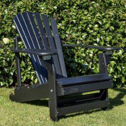 adirondack chair verstelbaar zwart