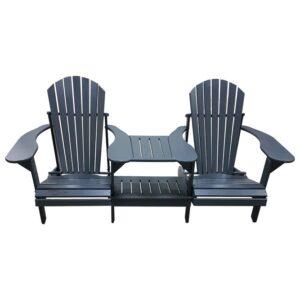 Kunststof Comfy Chair Tete-aTete Duozit Grijs