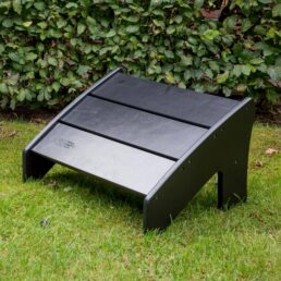 Modern Comfy Chair voetenbank zwart