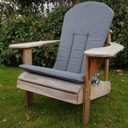 kussen comfy chair blauw grijs